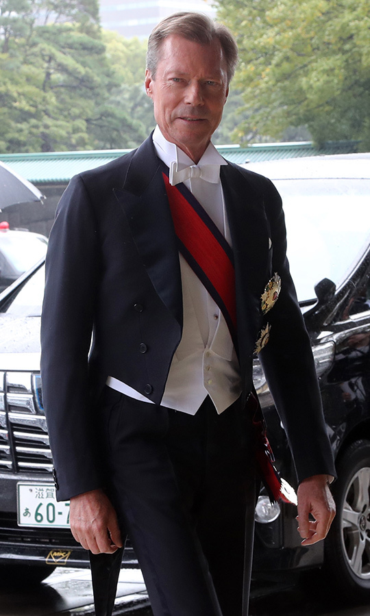 <strong>Grand Duke Henri of Luxembourg</strong>, fresh off the wedding of <strong>Prince Jean-Christophe Napoleon</strong> in Paris, didn't look the slightest bit jetlagged when he arrived!