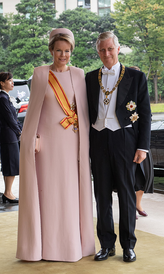 "<strong><a href=""/tags/0/queen-mathilde"">Queen Mathilde</a></strong> and <strong><a href=""/tags/0/king-philippe"">King Philippe</a></strong> of Belgium looked happy as they arrived.