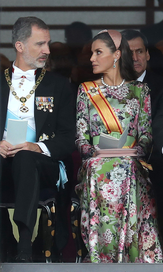 "As usual, Spain's <strong><a href=""/tags/0/queen-letizia"">Queen Letizia</a></strong> looked gorgeous, wearing a beautiful floral patterned gown for the occasion, which she attended with <strong><a href=""/tags/0/king-felipe-vi"">King Felipe VI</a></strong>.