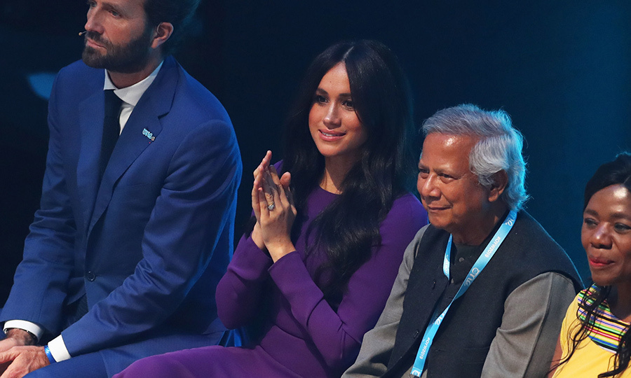 The new mother sat in the audience among participants and looked thrilled to be there. 