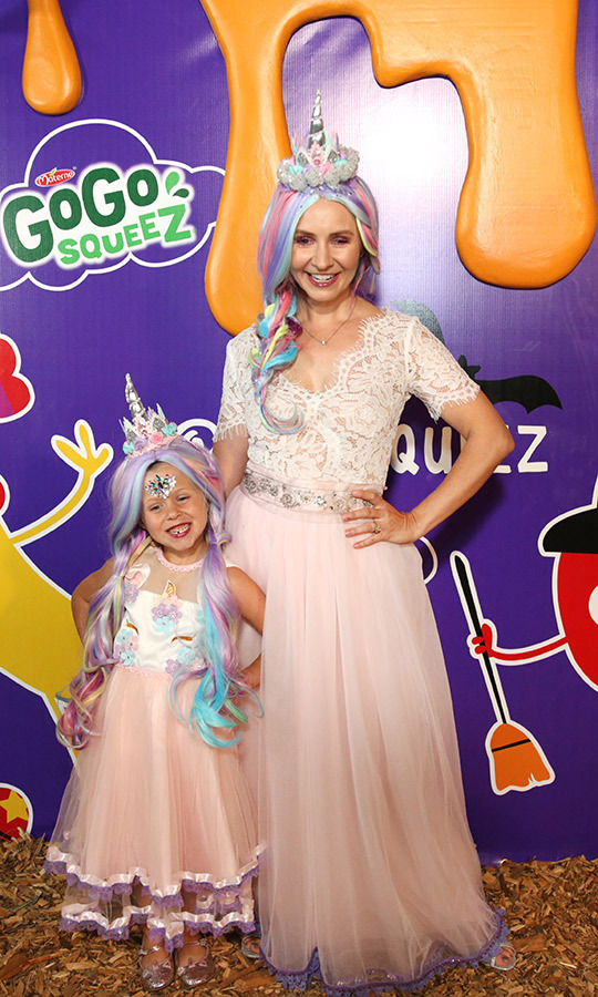 <strong>Beverly Mitchell</strong> and her daughter <strong>Kenzie Cameron</strong> went to the GoGo squeeZ GoGoWeen Halloween Launch Event in Los Angeles dressed as princesses!