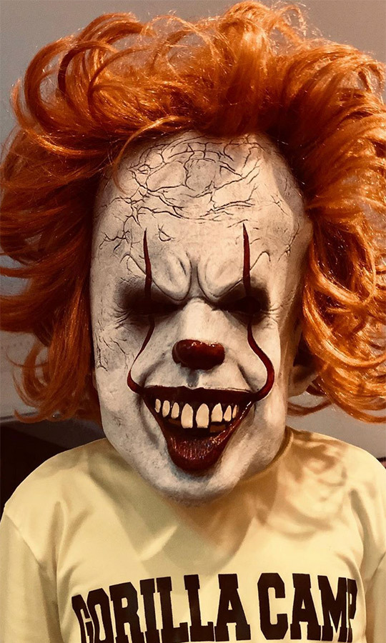 "We imagine Pennywise will be a hugely popular costume choice this year in general. <strong><a href=""/tags/0/joel-madden"">Joel Madden</a></strong> looks set to go as the <i>It</i> clown, judging by this insanely terrifying Pennywise mask he bought.