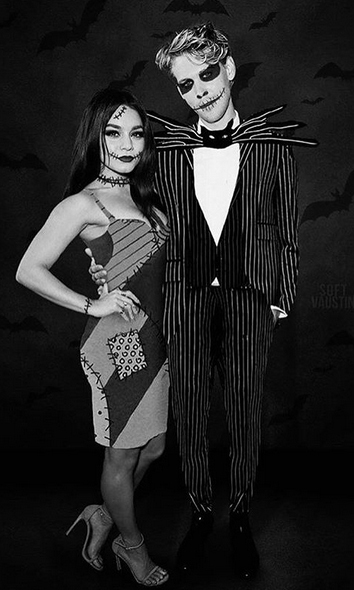 "<strong><A href=""/tags/0/vanessa-hudgens"">Vanessa Hudgens</a></strong> and <Strong><a href=""/tags/0/austin-butler"">Austin Butler</a></strong> went as Sally and Jack Skellington from <i>The Nightmare Before Christmas</i>.