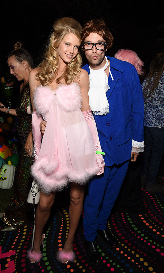 "<strong>Abby Champion</strong> and <Strong><a href=""/tags/0/patrick-schwarzenegger"">Patrick Schwarzenegger</a></strong> went to the party as a Fembot and Austin Powers.