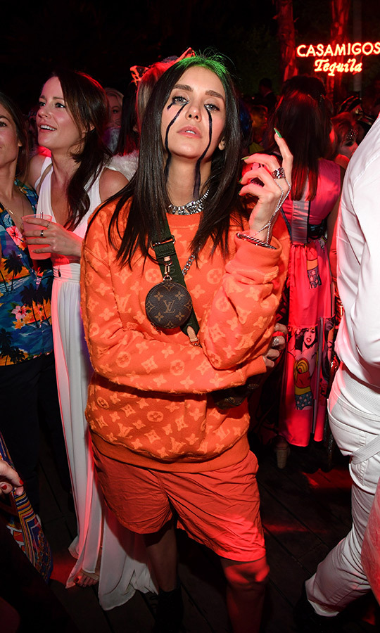 "Canada's <strong><a href=""/tags/0/nina-dobrev"">Nina Dobrev</a></strong> went as the hottest singer of the moment, <strong><a href=""/tags/0/billie-eilish"">Billie Eilish</a></strong>.