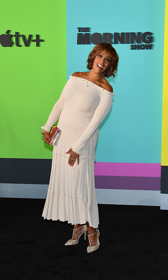 "<strong><a href=""/tags/0/gayle-king"">Gayle King</a></strong> wore a shoulderless dress that's in a style we love seeing her wear.