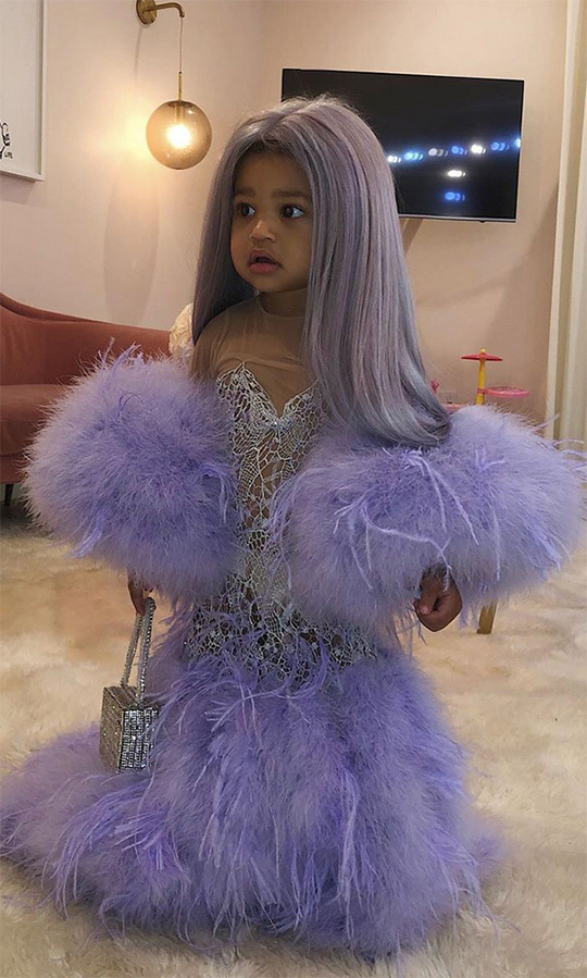 <h2>Stormi Webster as Kylie at the Met Gala</h2>