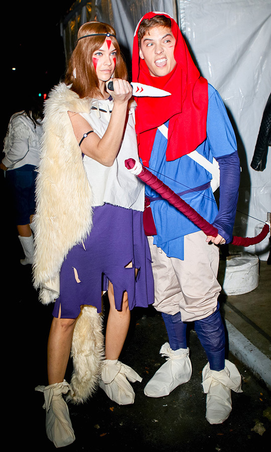 "<strong><a href=""/tags/0/barbara-palvin"">Barbara Palvin</a></strong> and <strong><a href=""/tags/0/dylan-sprouse"">Dylan Sprouse</a></strong> went as Ashitaka and San from beloved Japanese anime film <i>Princess Mononoke</i>.
