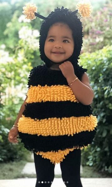 And as she promised, there was more from True! She dressed her daughter as a sweet little bee...