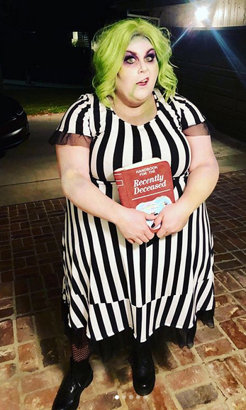 "<Strong><a href=""/tags/0/chrissy-metz"">Chrissy Metz</a></strong> chose a <i>Beetlejuice</i>-inspired look!