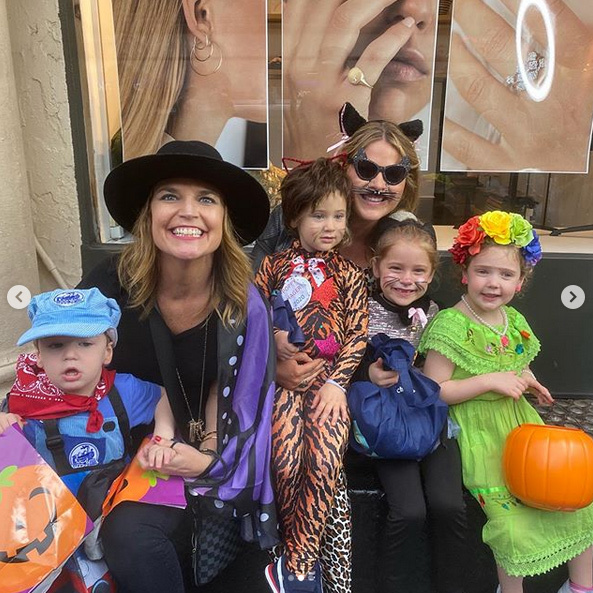 "<i>Today</i> co-hosts <Strong><A href=""/tags/0/savannah-guthrie"">Savannah Guthrie</a></strong> and <Strong><a href=""/tags/0/jenna-bush-hager"">Jenna Bush Hager</strong></a> took their kids trick-or-treating together - an annual tradition!