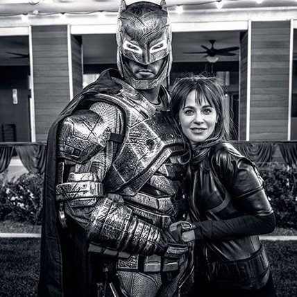 "Jonathan and his girlfriend <strong><a href=""/tags/0/zooey-deschanel"">Zooey Deschanel</a></strong> went as Batman and Batwoman, respectively.