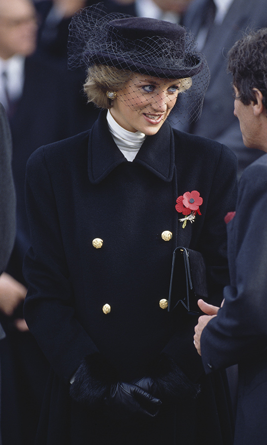 <a href=/tags/0/princess-diana><strong>Princess Diana</a></strong> in Paris at the 70th anniversary of the armistice in 1988. 