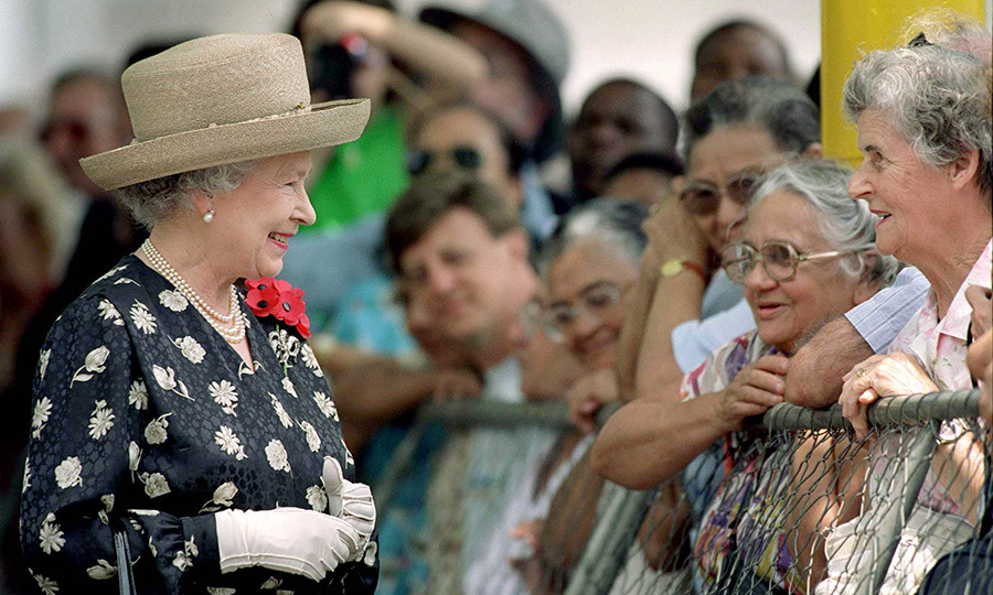 As she does every year, the Queen wore multiple poppies while visiting Durban in 1999.
