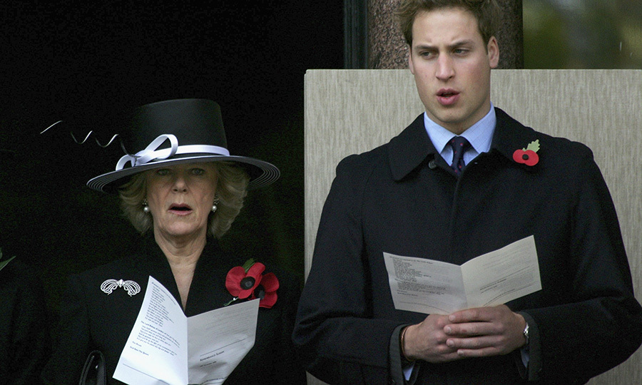 Duchess Camilla and Prince William sang hymns in 2005. 