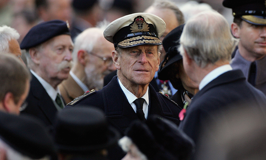 Prince Philip speaks with veterans during the opening of the Field of Remembrance at Westminster Abbey on Nov. 9, 2006 in London. 