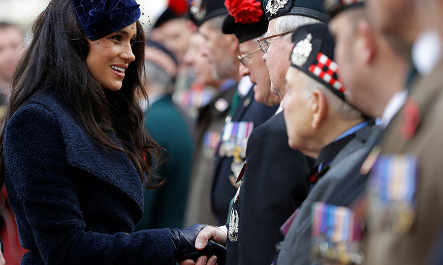 The sweet duchess shook their hands and thanked them for their service and sacrifices. 