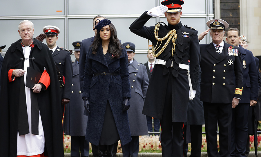 "<strong><a href=""/tags/0/meghan-markle"">Duchess Meghan</a></strong> and <Strong><a href=""/tags/0/prince-harry"">Prince Harry</a></strong> visited the Field of Remembrance outside London's Westminster Abbey on Nov. 7 to pay their respects to those who lost their lives in World War I, World War II and other conflicts since. 