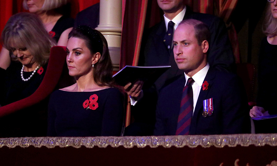 Kate and William looked particularly touched by the serious event. 