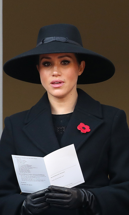 Meghan joined in for some hymns.