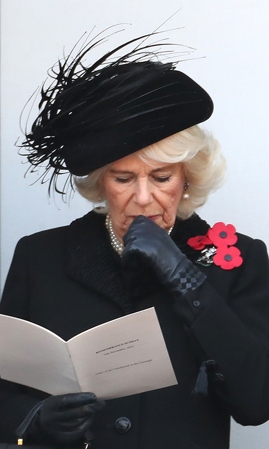 "It was great to see Camilla at the event. She had been suffering from a chest infection earlier this week, but her doctors confirmed she was well enough to attend the <strong><a href=""https://ca.hellomagazine.com/royalty/02019110953646/royal-family-festival-of-remembrance-london"">Festival of Remembrance</a></strong> in London on Nov. 9 and the Remembrance Sunday events.