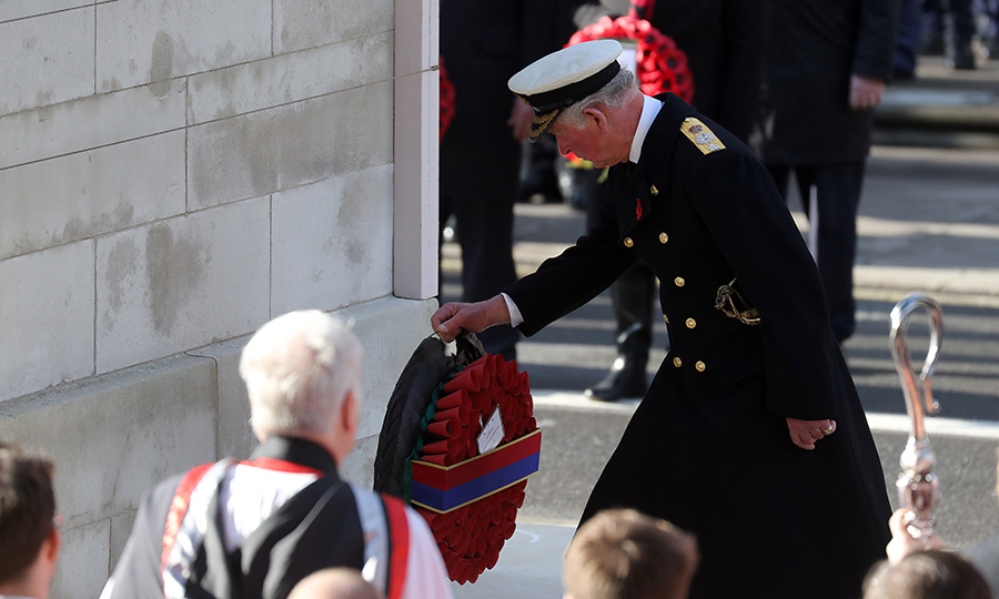 Prince Charles laid a wreath in the Queen's stead.