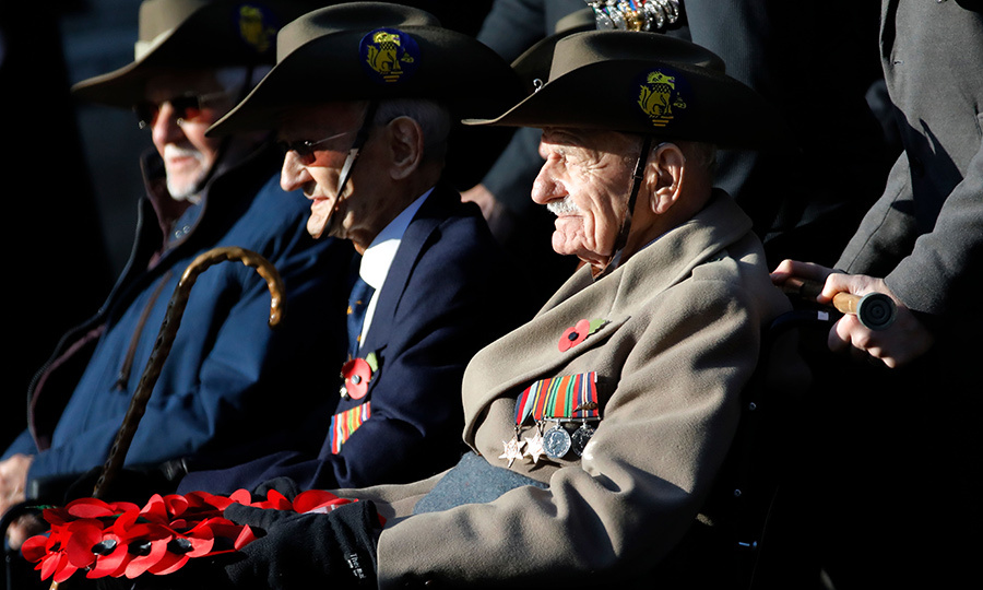 There were dozens of veterans at the event, who were honoured by their fellow servicemembers and the Royal Family.