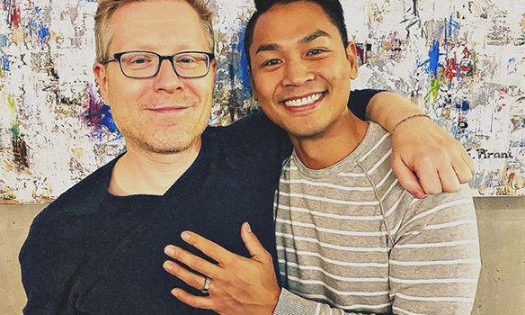<h2>Anthony Rapp and Ken Ithiphol</h2>
