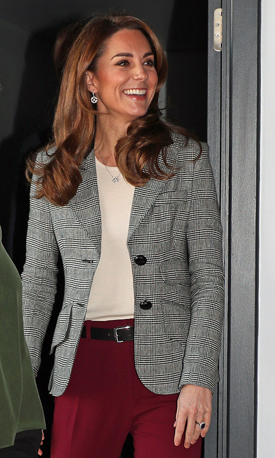 Kate had a huge smile on her face as she met with volunteers!
