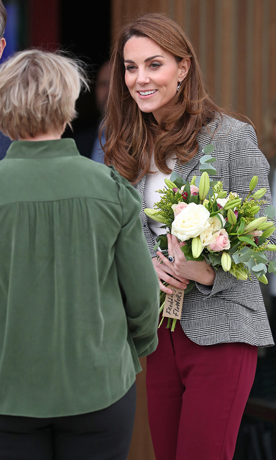 Kate graciously thanked organizers for having the couple out for the day, and then she and William headed home.