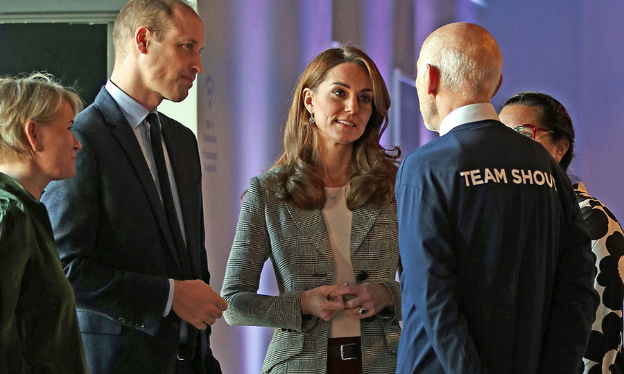 <strong><a href=/tags/0/kate-middleton>Duchess Kate</a></strong> and <strong><a href=/tags/0/prince-william>Prince William</a></strong> attended <strong><a href=/tags/0/shout>Shout</a></strong>'s Crisis Volunteer celebration event at London's Troubadour White City Theatre. 
