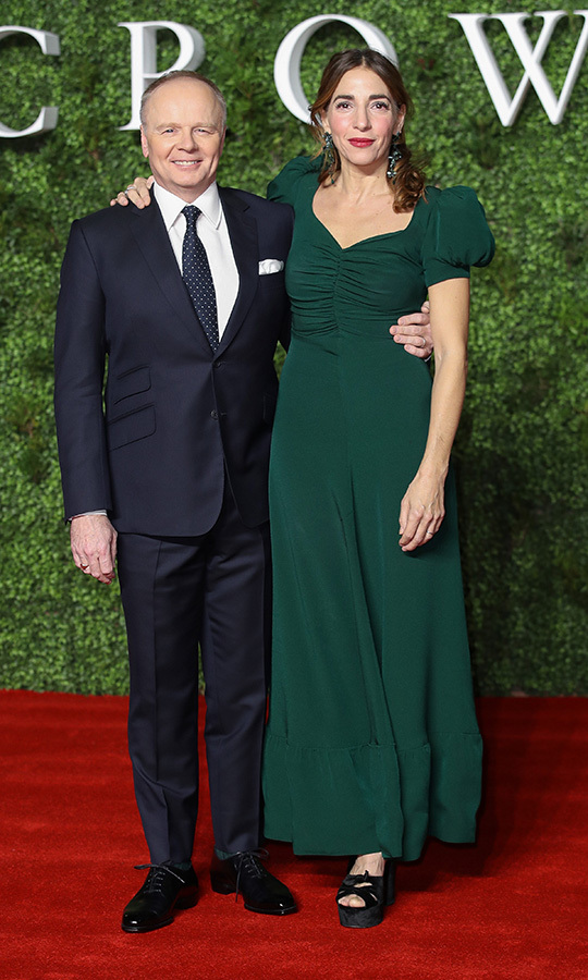 <strong>Jason Watkins</strong> and his wife <strong>Clara Francis</strong> looked very happy. She stunned in a beaufiul green dress and he looked great in a sharp navy blue suit.