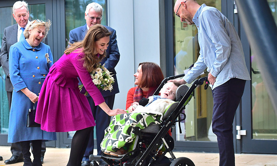 Kate met <Strong>Stanley Harrold</strong>, 3, who has Pallister-Killian syndrome, a rare chromosomal disorder that causes muscle difficulties, intellectual disabilities, facial differences, sparse hair and other complications.  