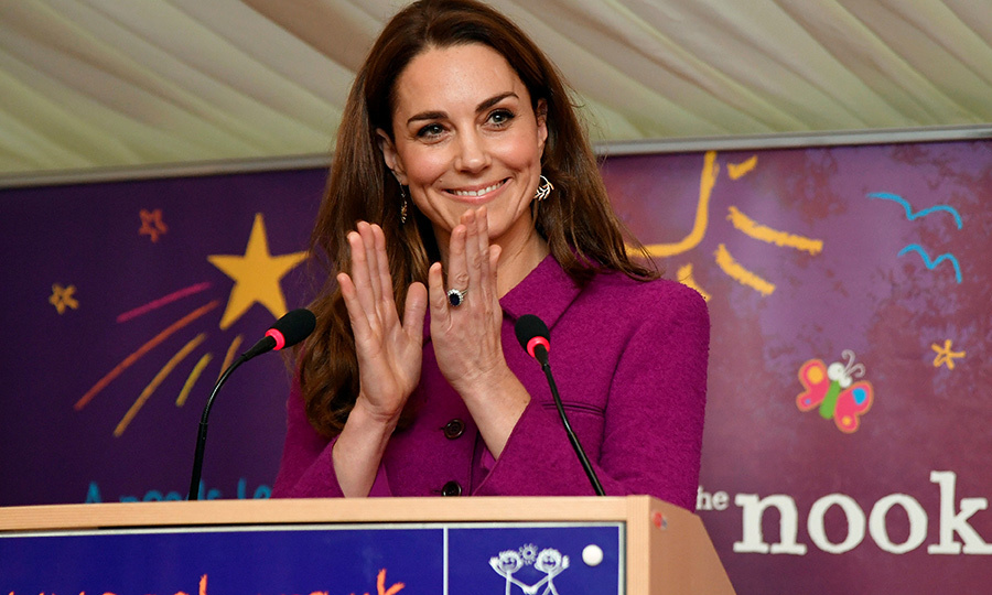 Kate also gave a speech in which she officially declared Nook open!