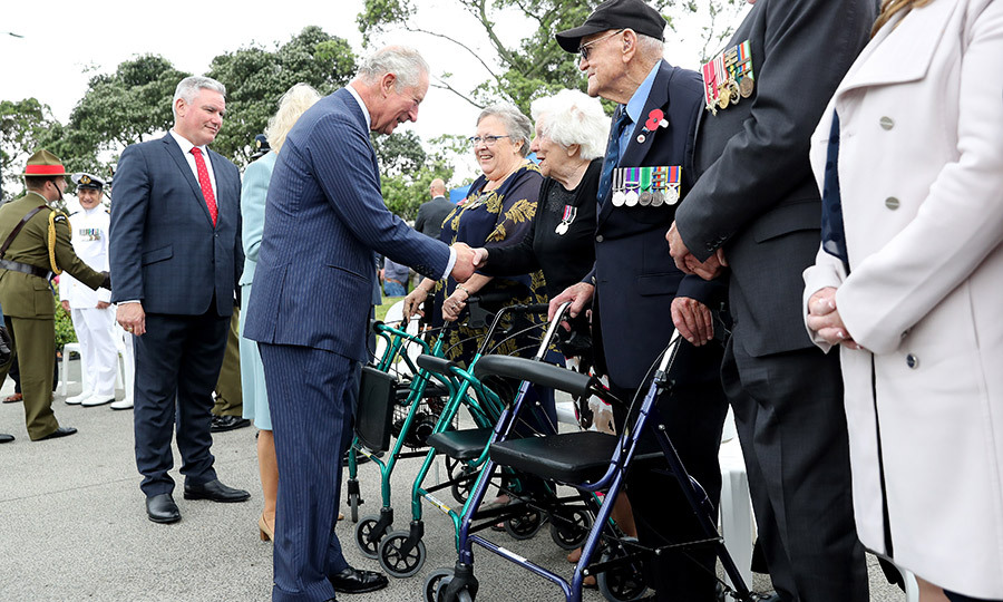 He also spoke with veterans at the event, and thanked them for their service. 