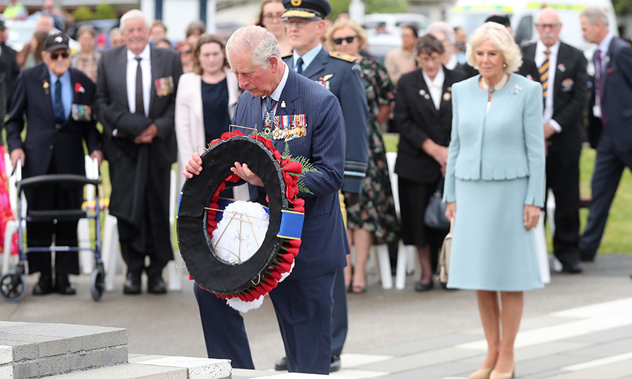 As is tradition, the Prince of Wales also left a wreath in memory of those who lost their lives during both World Wars and other conflicts since. 