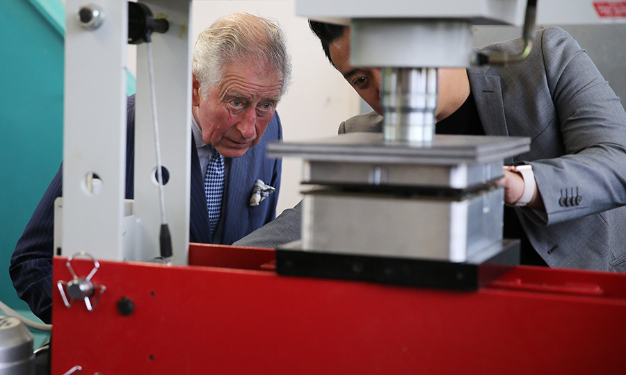 Wesley is also home to an intermediate school, where students learn design. Charles checked out one of its presses. 