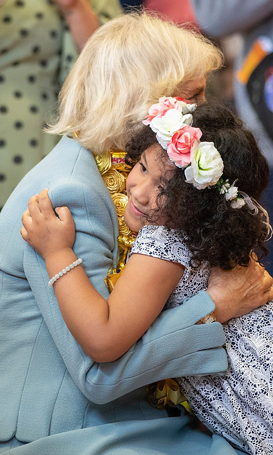 This sweet little girl also gave Camilla a huge hug! So cute!