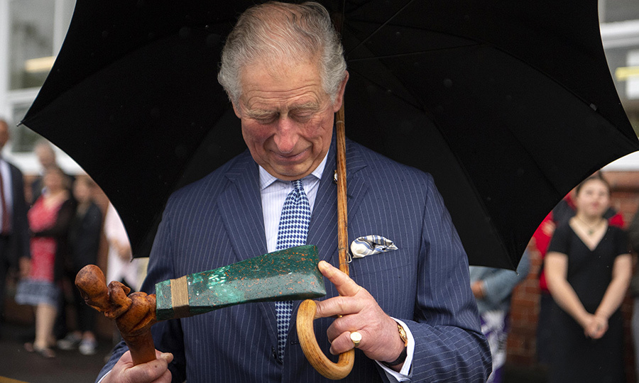 The school and community centre are home to Critical Design, a company that manufactures new items from recyclable materials. Charles was given a special gift while there!