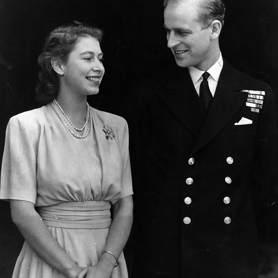 "A beaming then-Princess Elizabeth and Philip announced their engagement in 1947. A year before, Philip had asked <Strong><a href=""/tags/0/george-vi"">King George VI</a></strong> for Elizabeth's hand in marriage. 