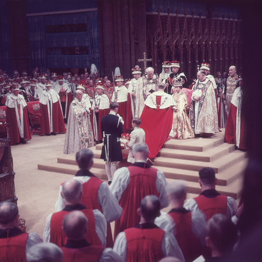 On June 2, 1953, Philip knelt before the Queen and swore an oath during her coronation at Westminster Abbey.
