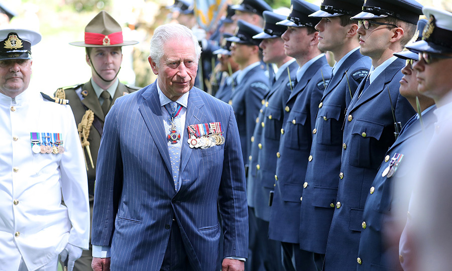 Charles then inspected an honour guard...
