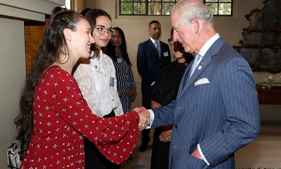 The couple then stepped out to Mantells in Auckland's Mt. Eden neighbourhood for a tea with people who had been helped by The Prince's Trust, Charles's charity.