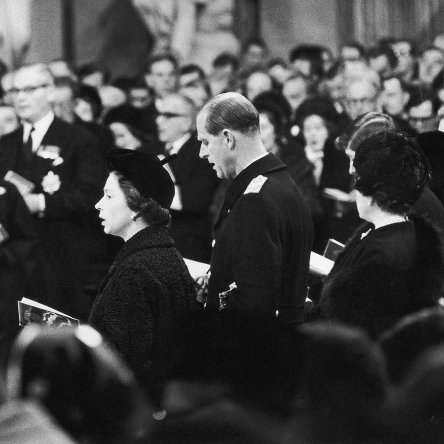 In 1965, the Queen and Philip's longtime friend, former UK Prime Minister Winston Churchill, died. They attended the historical giant's funeral.