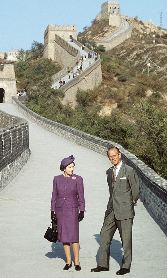 In 1987, the couple visited China, and even got the chance to see the Great Wall!