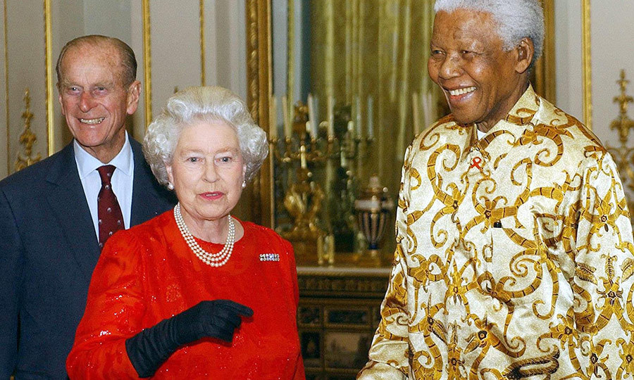 Nearly 10 years after they visited South Africa together for the first time, Philip and the Queen welcomed <Strong>Nelson Mandela</strong> to Buckingham Palace for a special reception in 2003.