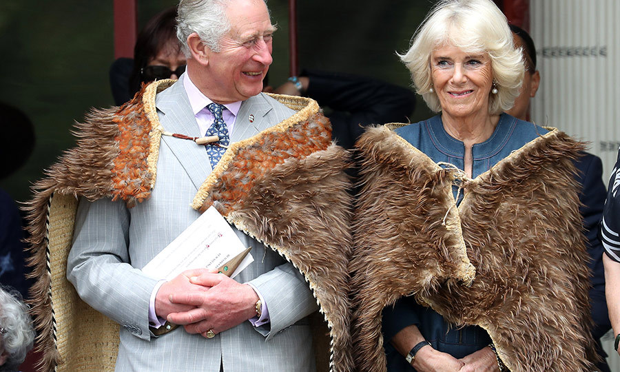 The Duke and Duchess of Cornwall were given traditional Māori cloaks during the special event, too. 
