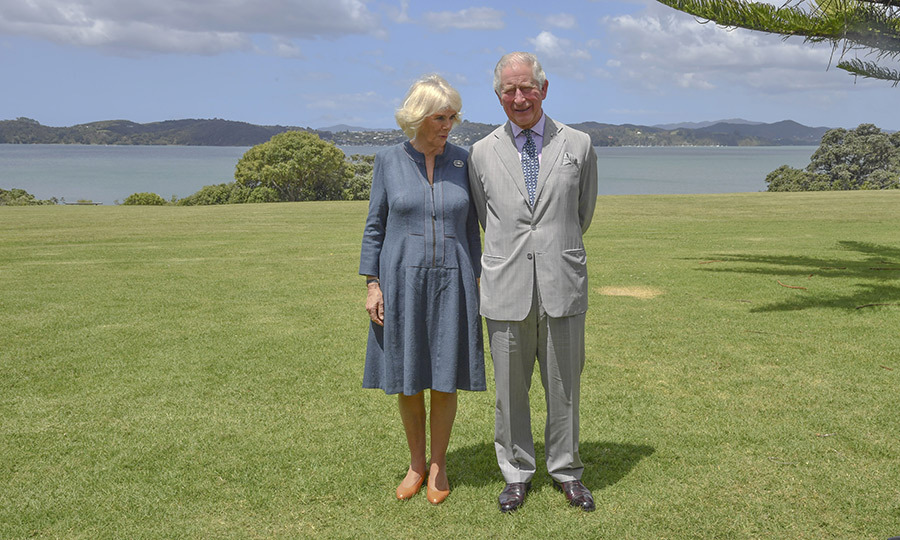 Charles and Camilla later reunited for this gorgeous photo. 