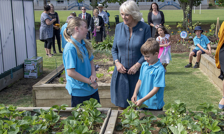 Camilla also learned about the school's Garden to Table program, which encourages kids to grow their own vegetables and learn to cook in the school's kitchen. 
