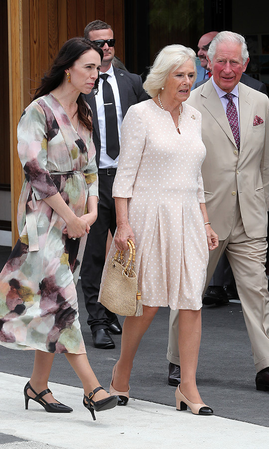 "Later in the day, the Duke and Duchess of Cornwall met back up with New Zealand Prime Minister <strong><A href=""/tags/0/jacinda-ardern"">Jacinda Ardern</a></strong>, who joined them for a visit to Cashmere High School in Christchurch. While there, they met with victims of the Christchurch terror attacks that took place this past April.